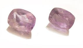 Par De Pedras Preciosas Naturais Ametista Lapidadas J13380