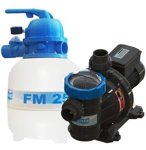 Bomba De Piscina 1/4 Cv + Filtro Fm 25 S/areia Até 21 M³
