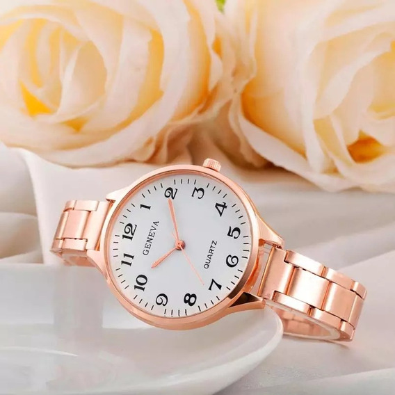 Relógio Feminino Rose Barato/ Marca Duobla