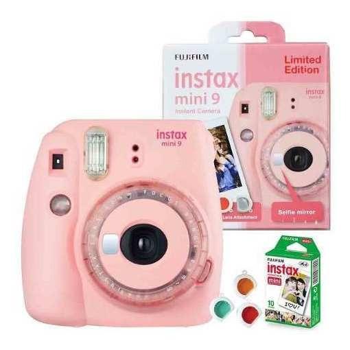 Câmera Fujifilm Instax Mini 9 - Clear Pink Edição Limitada