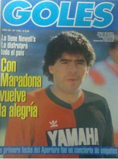Revista Goles 1784 De 1993 ,tapa Maradona En Ñuls