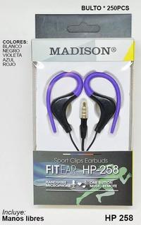 Auricular Madison Fit-ear Hp-258 Manos Libres Con Orejeras