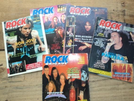 Lote C/ 10 Revistas- Rock Brigade- Antigas