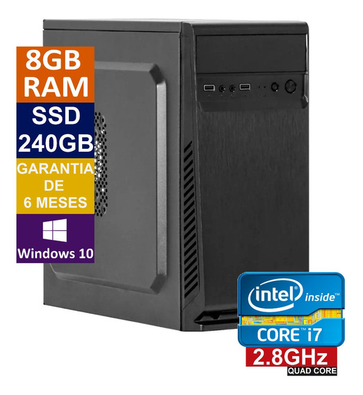 Pc Computador Cpu Intel Core I7 + Ssd 240gb, 8gb Memória Ram