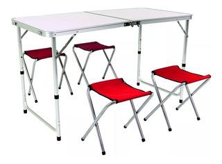 Camping bel sol aluminio plegable mesa de camping mesa mesa 120 x 70