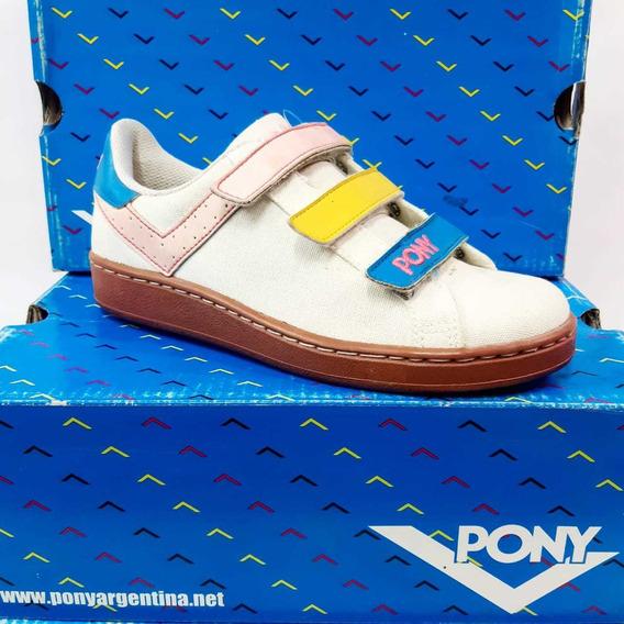 Zapatillas Pony Il Velcro Cvs Cementado 6202 Multicolor Wash