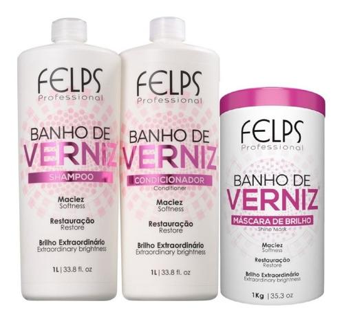 Felps Kit Banho De Verniz 2x1l + Máscara 1kg + Brinde