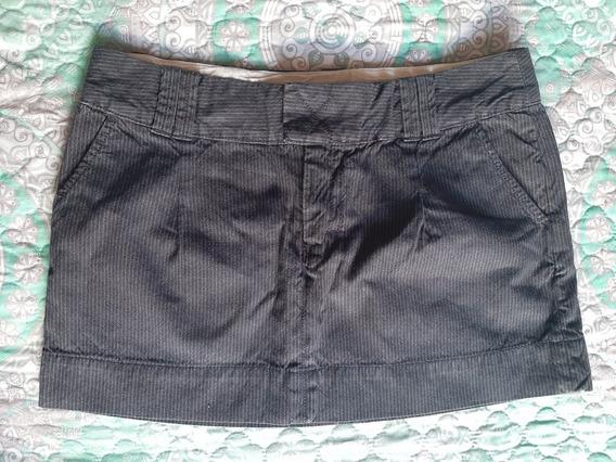 Mini Falda Negra De Mujer American Eagle Talla 8