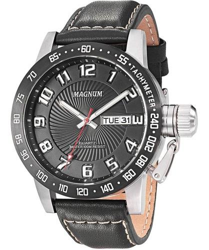 Relógio Magnum Masculino Ma33139t Couro Preto Oferta