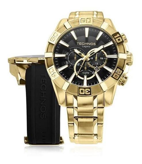 Relógio Masculino Technos Os2aajac/4p + Pulseira Borracha