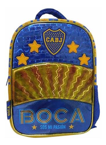 Mochila Boca Juniors C/pasto 12p Cresko Bo004