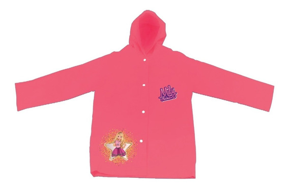 Capa De Chuva Infantil Menina Rosa Vermelho Lilás M G Gg