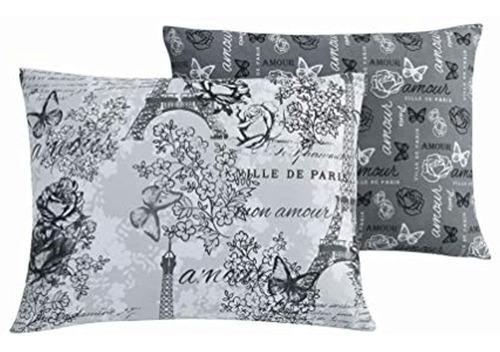 Imagen 1 de 4 de Juego De Edredon Parisino Reversible Avondale Manor Amour D