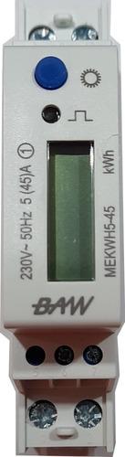 Medidor Digital De Energía Activa Monofásico 1 Módulo Din