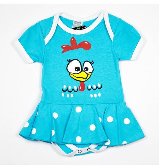 Body Da Galinha Pintadinha Azul Claro Para Bebês