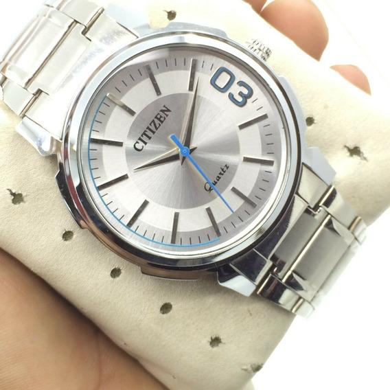 Relógio Citizen Quartz 42mm Feito No Japão - Raro !!