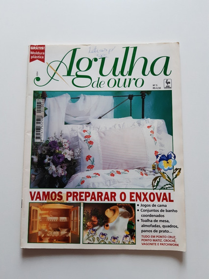Revista Agulha De Ouro Ponto Cruz Enxoval Jogos De Cama D708