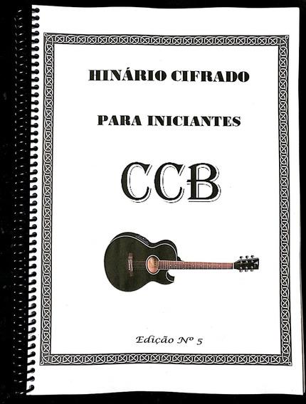 Caderno De Hinos Cifrados P/ Violão Sem Pestana Ccb Edição 5
