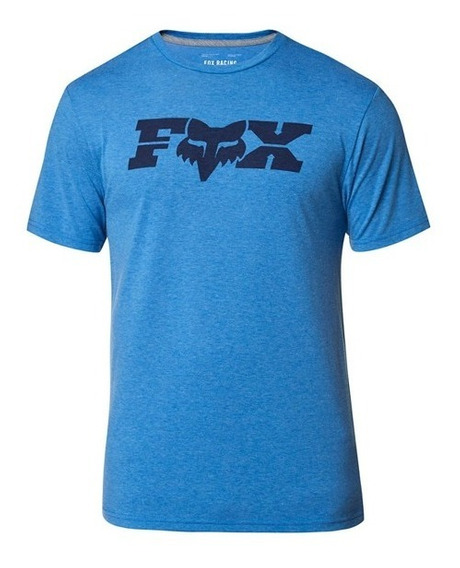 Playera Tech Fox General Ss Azul Rey Heather Casual