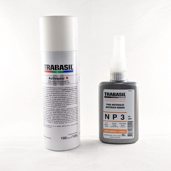 Trabasil Np3 50g + Activador N Para Vidrio O Material Rígido