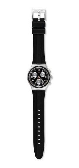 Relógio Swatch Apress Vous Ycs598 Silicone Preto Original
