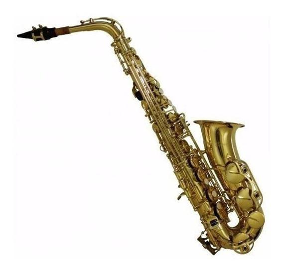 Sax Alto Benson Bsac-iv Em Eb Envelhecido