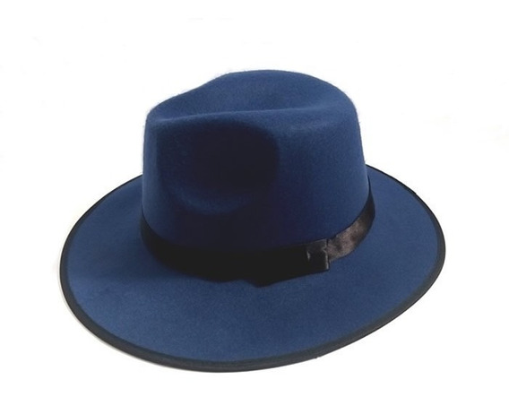 Sombrero Ala Ancha Azul Vintage Hipster Funky Unisex F-072