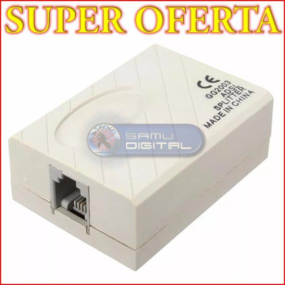 Filtro Adsl Splitter Telefono Internet Aba Punto De Venta X2