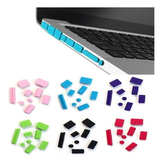 Kit Plug Silicone Macbook Apple - Várias Cores Frete Gratis