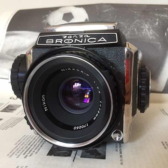 Zenza Bronica C2 + Nikkor 75mm 2.8 Médio Formato 6x6