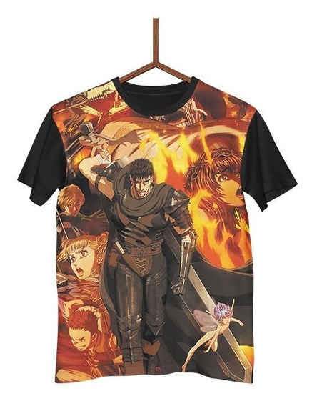 Camisa Camiseta Berserk Guts Anime Espada An-135