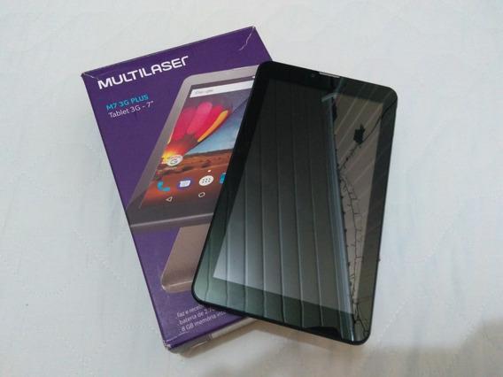 Tablet Multilaser M7 3g Plus Em Ótimo Estado, Na Caixa!