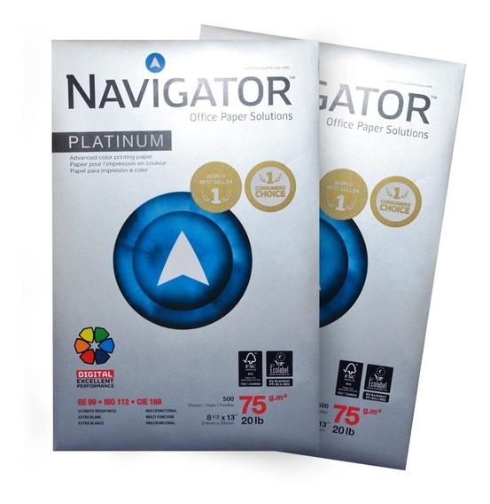 Papel Oficio Navigator Platinum (caja 10 Resmas)