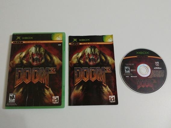 Doom 3 Xbox Original Americano Completo!! 100% Perfeito!!