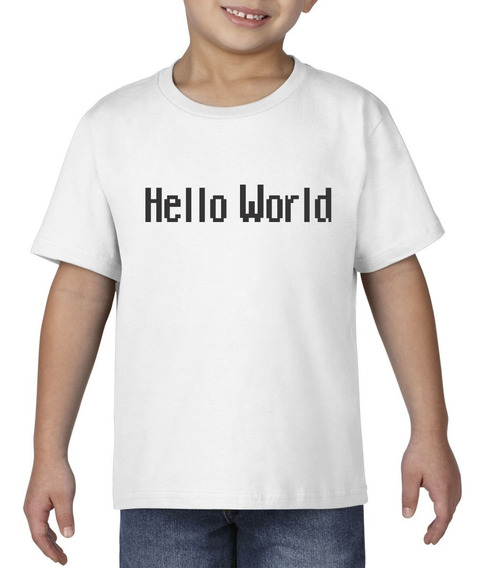 Camiseta Playera Bebe Niño Geek Programador Hello World