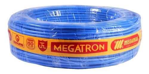 Imagem 1 de 5 de Cabo Flexivel Megatron 10 Milimetros Azul Com 60 Metros