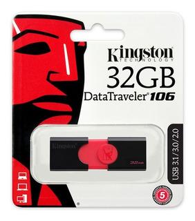 Memoria Usb Kingston 32gb Dt106 Para Fotos, Videos Y Musica