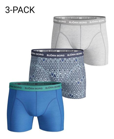 Exclusivos Boxer Cortos Bjorn Borg Xxl Blue Triangle Grey