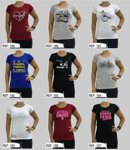 Kit 2 Babylook Casual Camiseta Feminina Blusa Blusinha Lazer