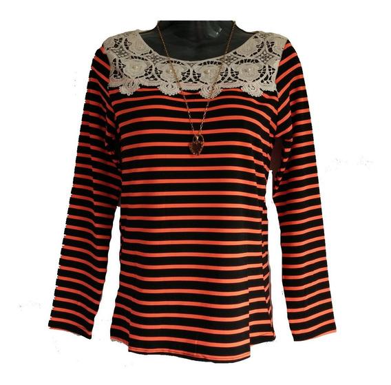 Sueter Sweater Blusa Dama Casual Tela Algodón Importados