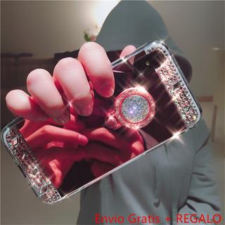 Funda Case Huawei P10lite Nova Lite G10 Oro Bumper Espejo +r