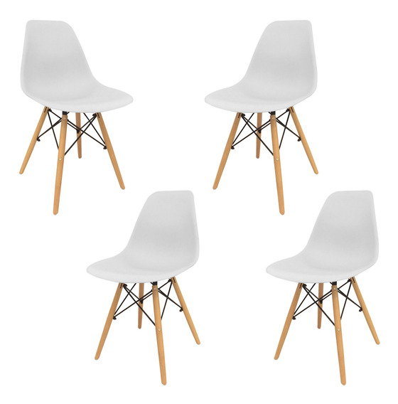 Silla Eames X 4 Dsw Diseño Moderno Sillas Oferta
