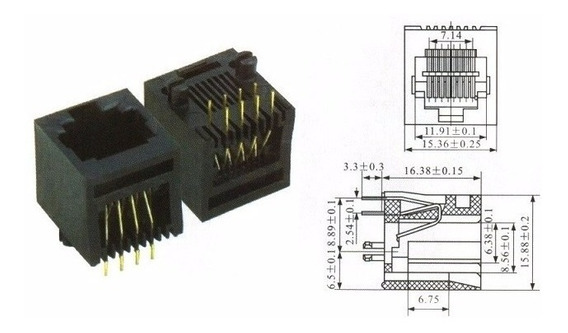 Conector Rj45 P/ Pci 180º - Fêmea - Bandeja Com 90 Und