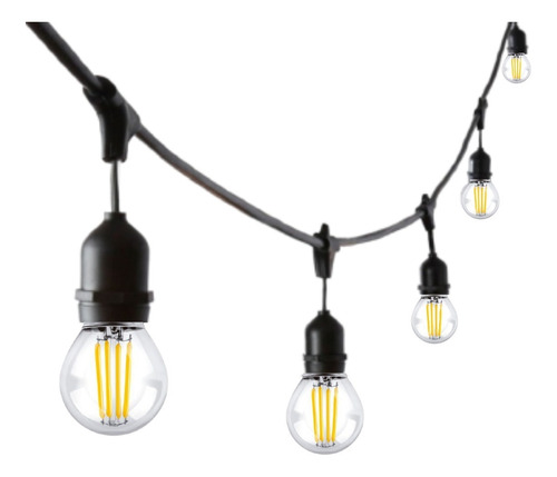 Guirnalda Led Exterior Luz Deco 4w 5mts Reforzada Extensible