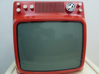 Televisor Noblex Rojo 14 Pulgadas Vintage