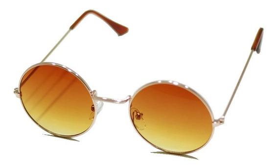 Óculos De Sol Redondo Feminino Masculino Estilo Retrô