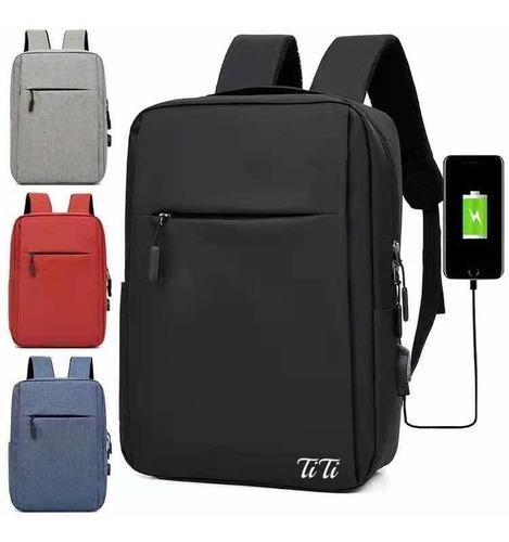 Imagen 1 de 7 de Mochila Escolar Antirrobo Bolsa Casual Para Laptop Carga Usb