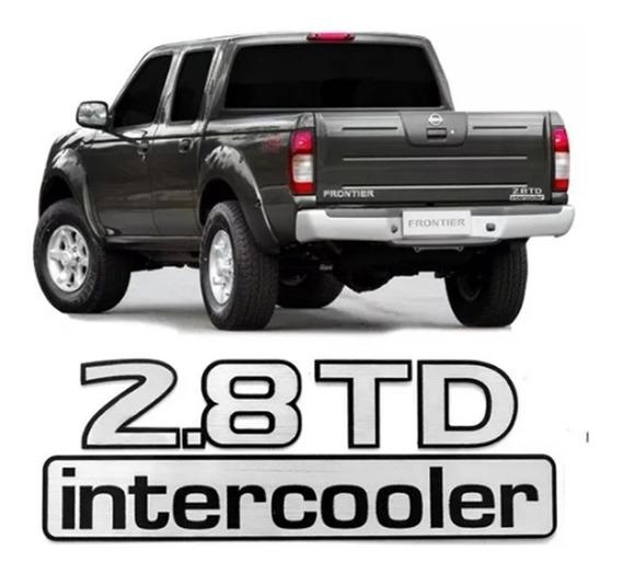 Emblema Adesivo 2.8 Td Intercooler Frontier 2001 A 2007