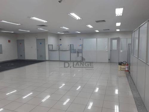 Imagem 1 de 15 de Salão Para Alugar, 586 M² Por R$ 27.900,00/mês - Jardim Guanabara - Campinas/sp - Sl0871