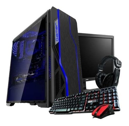 Pc Gamer Completo 8gb Quad Core +30 Jogos , Monitor 19